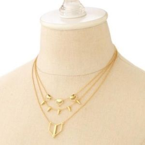 Stella & Dot Jewelry - :: S & D Gold/Turquoise Layering Necklace [6 in 1]